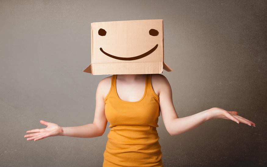 Schaut eine Person freundlich oder grimmig?