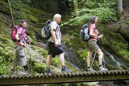 Spazieren und Wandern