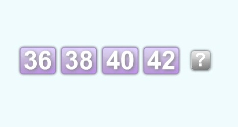 36 38 40 42 44